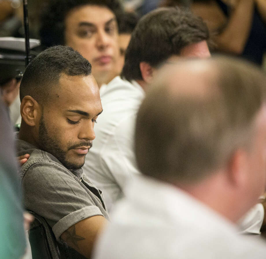 Angel Colon, a survivor of the mass shooting that killed dozens at an Orlando gay nightclub, speaks to the media for the first time at a press conference at the Orlando Regional Medical Center in Orlando, Fla., on Tuesday, June 14, 2016. Colon's life was saved by the efforts of the trauma surgeons at Orlando Regional Medical Center, according to the hospital. Photo: Loren Elliott/Tampa Bay Times Via AP    / Tampa Bay Times