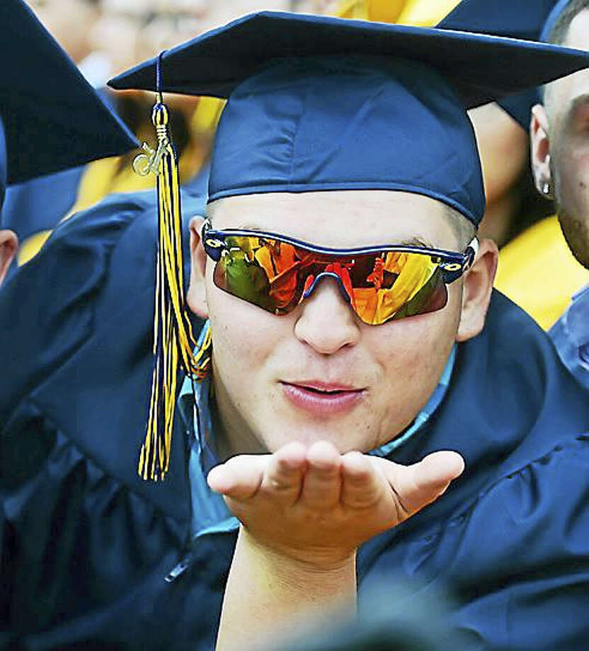 Michael DeAngelo at East Haven High School's graduation in 2015. Photo: Catherine Avalone — New Haven Register File Photo