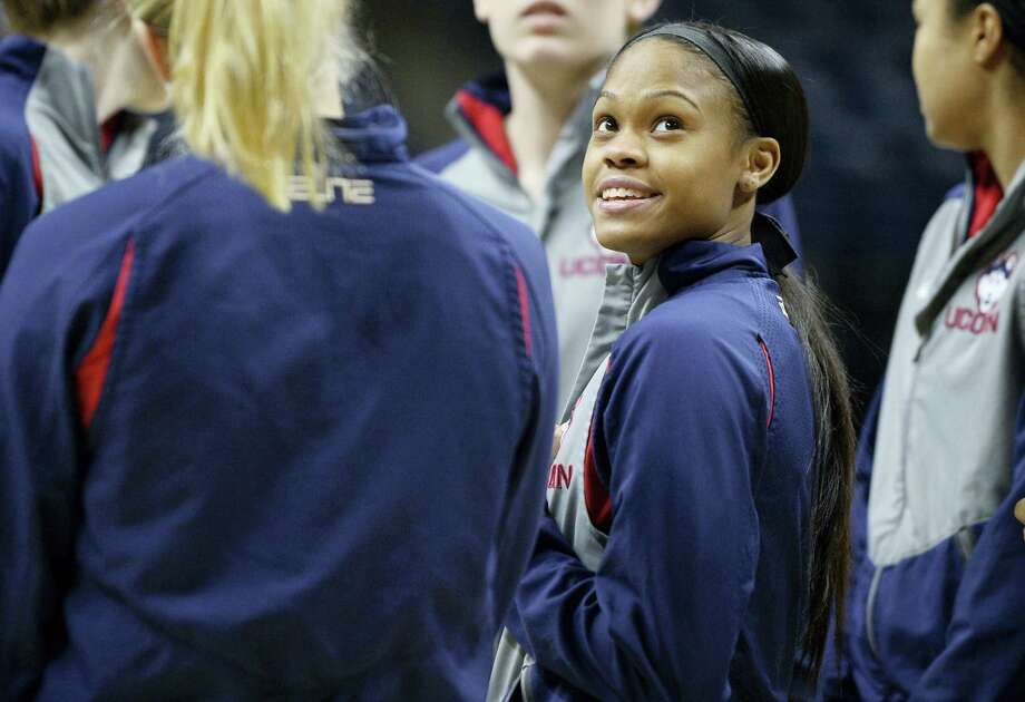 UConn's Moriah Jefferson played her final game at Gampel Pavilion on Monday night. Photo: Jessica Hill — The Associated Press   / AP2016