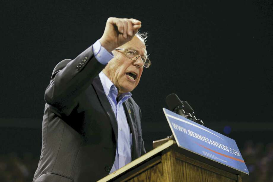 Democratic presidential candidate Sen. Bernie Sanders, I-Vt., speaks at a rally in Carson, Calif., Tuesday. Photo: Jae C. Hong — The Associated Press   / Copyright 2016 The Associated Press. All rights reserved. This material may not be published, broadcast, rewritten or redistribu