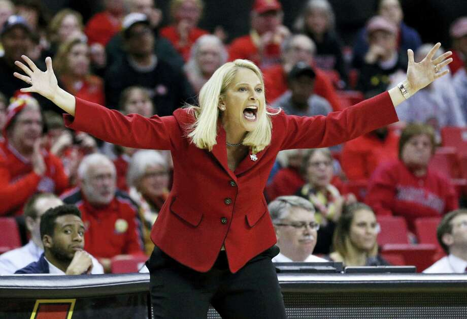 Maryland head coach Brenda Frese directs her players during a second round NCAA tournament game in College Park, Md., on Monday. Photo: The Associated Press   / Copyright 2016 The Associated Press. All rights reserved. This material may not be published, broadcast, rewritten or redistributed without permission.