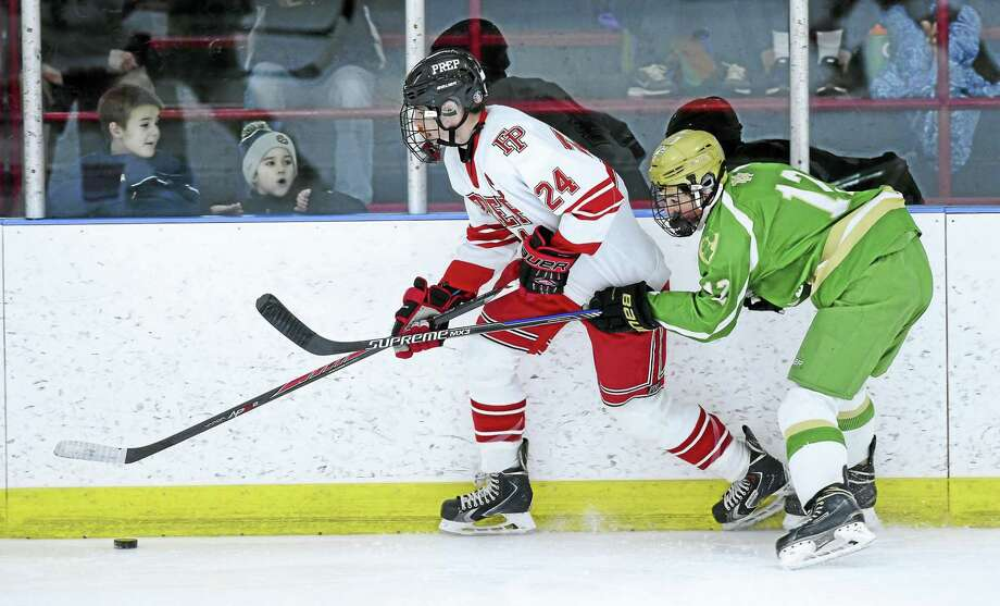 Notre Dame-West Haven is No. 4 and Fairfield Prep is No. 5 in this week's Top 10 hockey poll. Photo: Photo By Arnold Gold — New Haven Register