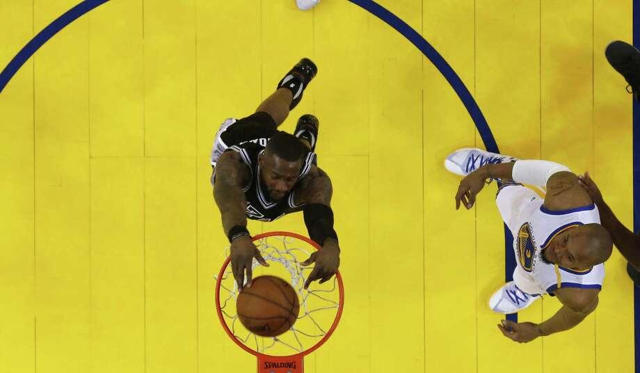 The Spurs are going to miss Jonathon Simmons' dunks. Photo: Marcio Jose Sanchez /Associated Press / Copyright 2017 The Associated Press. All rights reserved.