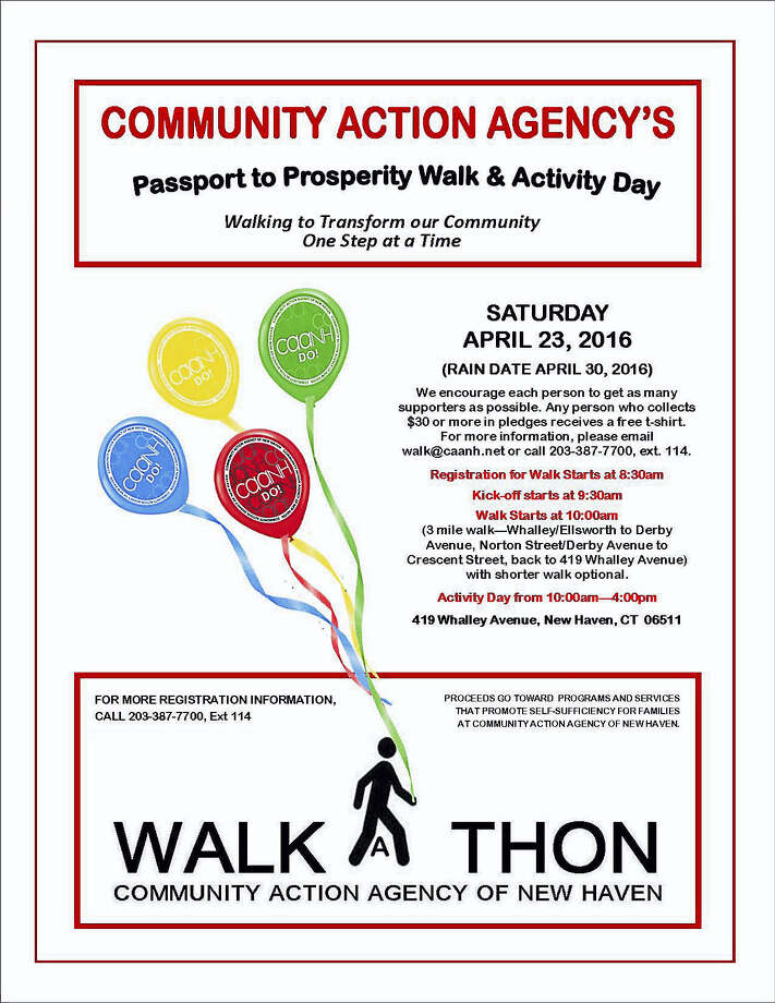 Community Action Agency of New Haven will hold its 2nd Annual Passport to Prosperity Walk & Activity Day April 23 at 419 Whalley Ave. Photo: Journal Register Co.