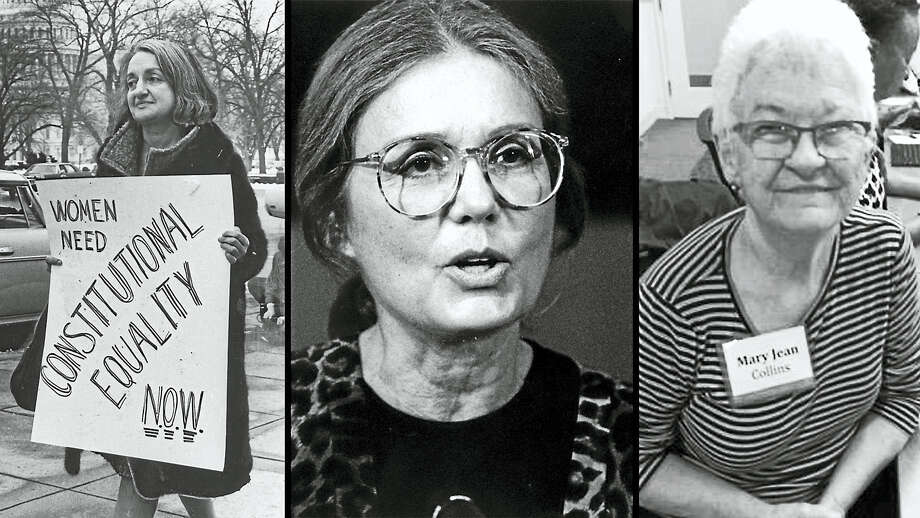 From left, Second Wave feminists Gloria Steinem, Betty Friedan and Mary Jean Collins. Steinem by Tom Allen of The Washington Post; Friedan by Charles Del Vecchio of The Washington Post; Courtesy Mary Jean Collins Photo: The Washington Post And... / The Washington Post