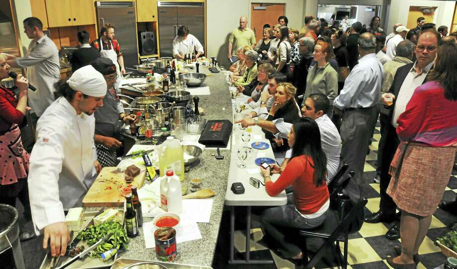 A past Iron Chef Elm City competition. Photo: Mara Lavitt — Register File Photo