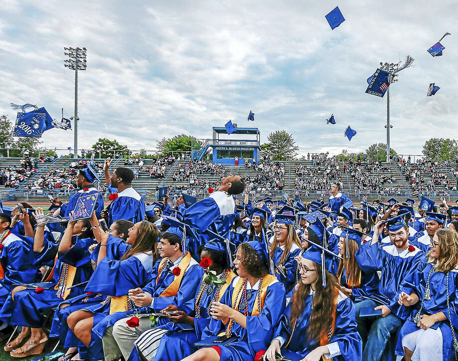Three hundred fifty-six seniors graduated from West Haven High School Monday. Photo: JOHN VANACORE — FOR THE REGISTER   / John Vanacore/Register