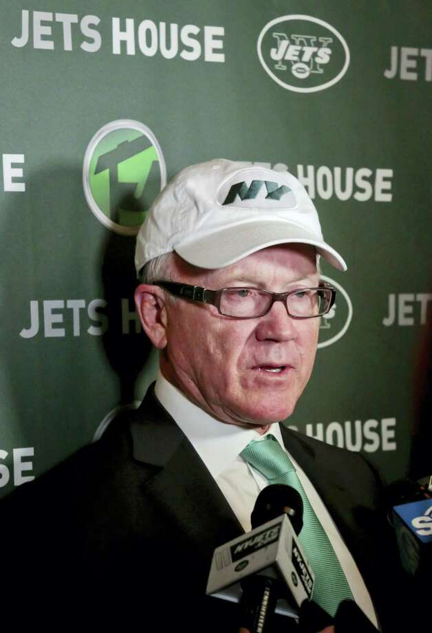 Jets owner Woody Johnson holds a news conference on Friday in New York. Photo: Bebeto Matthews — The Associated Press   / AP