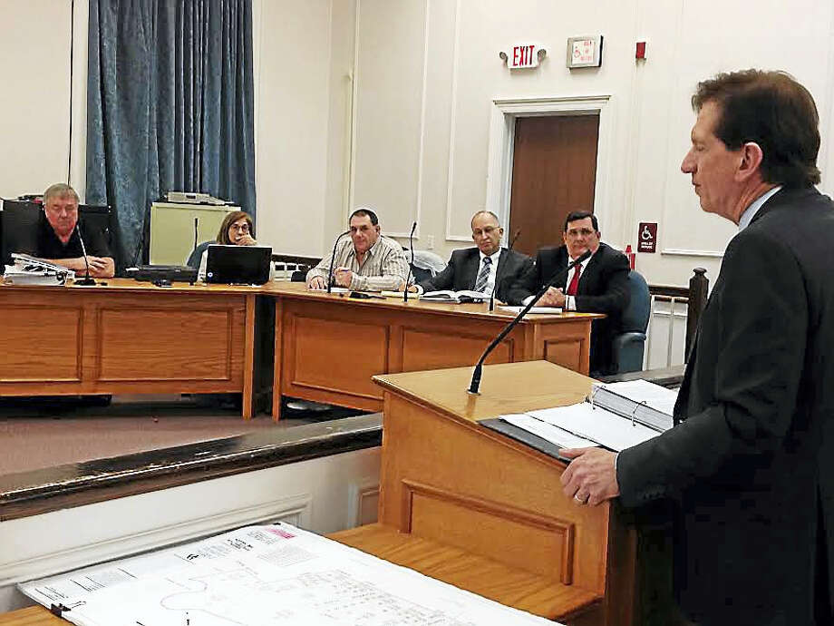 Gary O'Connor, a private attorney representing the city, discussed nine possible property acquisitions with the Planning and Zoning Commission Tuesday night. Photo: Mark Zaretsky — New Haven Register