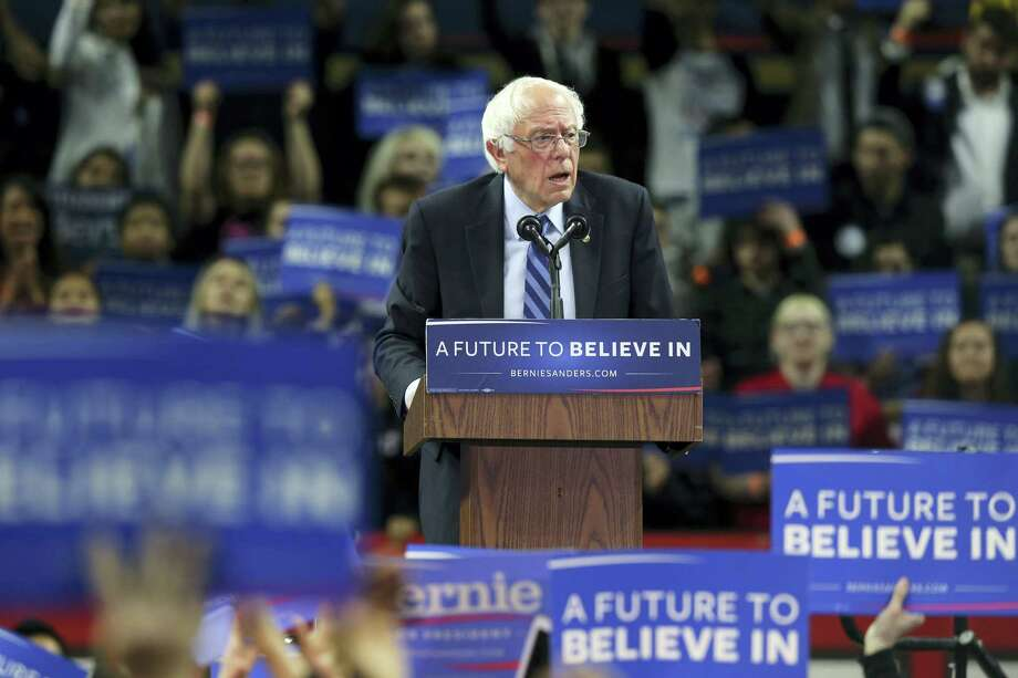 Democratic presidential candidate, Sen. Bernie Sanders, I-Vt., speaks at a campaign rally in Piscataway, N.J. Democratic presidential front-runner Hillary Clinton sought to avoid primary losses in Kentucky and Oregon Tuesday, aiming to blunt the momentum of challenger Bernie Sanders ahead of a likely general election matchup against Republican Donald Trump. Photo: AP Photo — Mel Evans, File / Copyright 2016 The Associated Press. All rights reserved. This material may not be published, broadcast, rewritten or redistribu