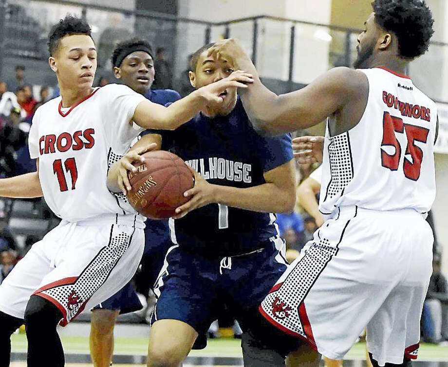 Wilbur Cross High School boys basketball against Hillhouse High School Monday evening at the Floyd Little Athletic Center in New Haven. Photo: Peter Hvizdak — New Haven Register   / ?2016 Peter Hvizdak