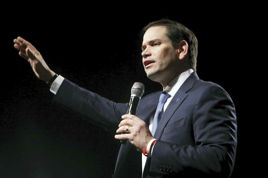In this Feb. 22, 2016, file photo, Republican presidential candidate Sen. Marco Rubio, R-Fla., speaks at a rally in Reno, Nev. Ask people what economic issues will be important for the next president, and Democrats, Republicans and independents alike all put a high priority on protecting Social Security and reducing unemployment. Beyond that, though, their lists of top economic concerns for the next president are more fractured, according to a poll conducted by The Associated Press-NORC Center for Public Affairs Research. Photo: AP Photo/Marcio Jose Sanchez, File    / AP