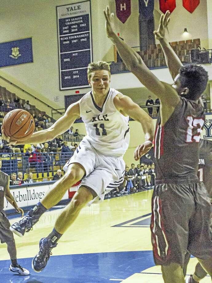 Makai Mason of the Yale men's basketball team. Photo: Steve Musco Photo