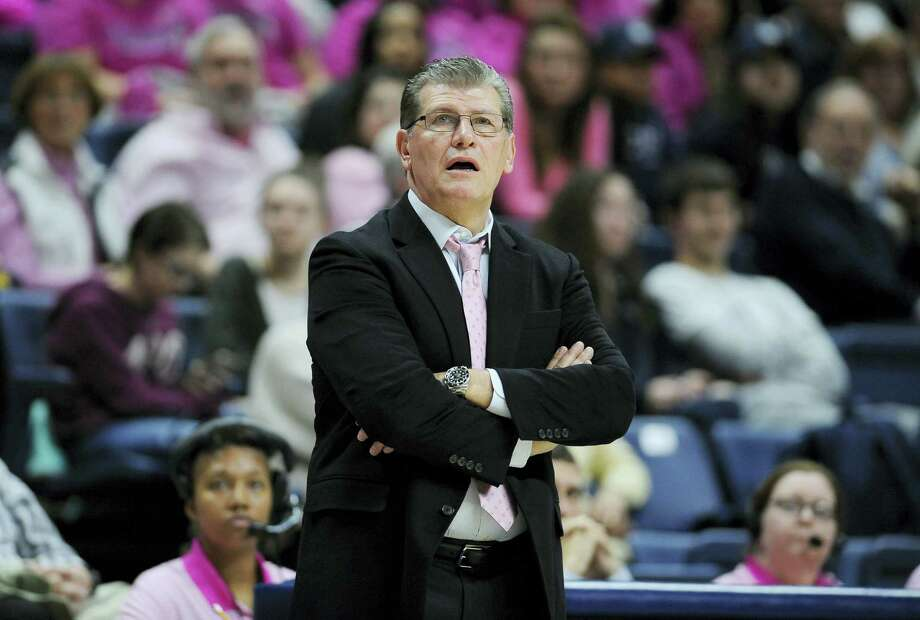 Even UConn head coach Geno Auriemma has to be in a little awe of the fact his Huskies have been ranked No. 1 in 200 AP Top 25 polls since 1995. Photo: File Photo – The Associated Press   / AP2016