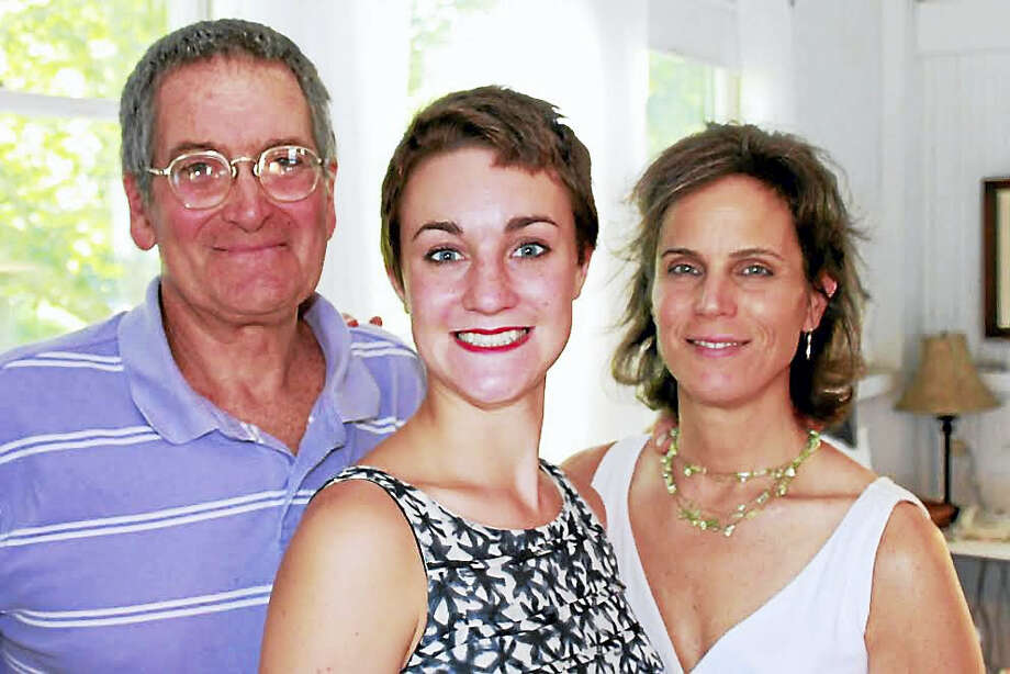 Bobby Lowry with his daughter, Natalie Antenucci Weaver, and his wife, Peggy Antenucci, at their home in Madison. Photo: CONTRIBUTED PHOTO — DAVID BARTHOLOMEW