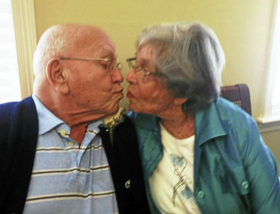CONTRIBUTED PHOTO  Saul and Edith Eudowe were married in 1946. The couple this week celebrated their 70th anniversary. Photo: Journal Register Co.