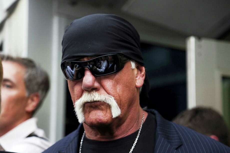 Hulk Hogan, whose given name is Terry Bollea walks out of the courthouse on March 18, 2016 in St. Petersburg, Fla. Bollea was awarded $115 million in damages in his lawsuit against the gossip website Gawker on Friday. Photo: Eve Edelheit/The Tampa Bay Times Via AP   / Tampa Bay Times