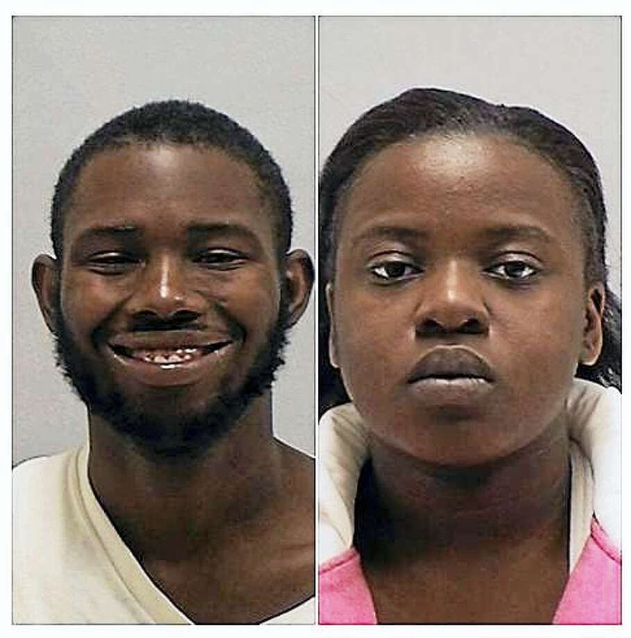 Carl Davis, left; Tashawna Meadows, right. (photo courtesy of Orange Police Department) Photo: Journal Register Co.