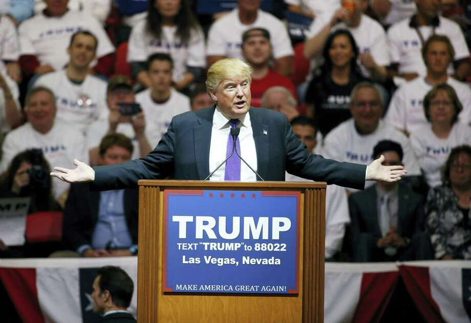Republican presidential candidate Donald Trump speaks at a campaign rally in Las Vegas. Photo: FILE Photo   / AP