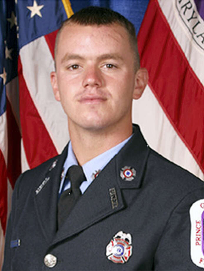 This photo provided by Prince George County shows Prince George County Firefighter/Medic John Ulmshneider. Police are trying to determine why a person opened fire on firefighters who were responding to a call for help at a home in a Maryland suburb of Washington. Ulmshneider was shot and killed while making a welfare check and another remains in serious condition, officials said. Photo: Prince George County Via AP  / Prince George County