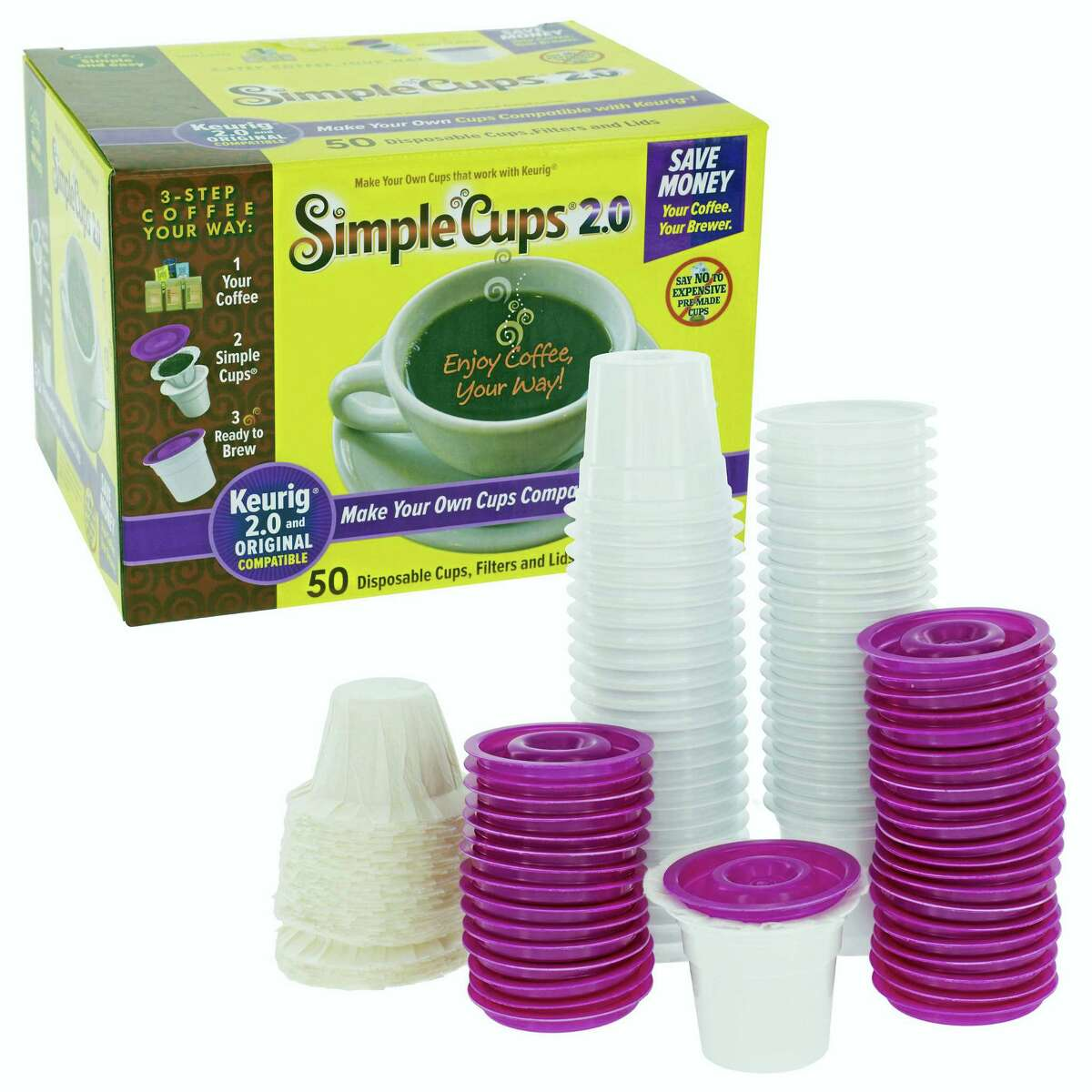 Simple Cups reusable and disposable K-Cups.