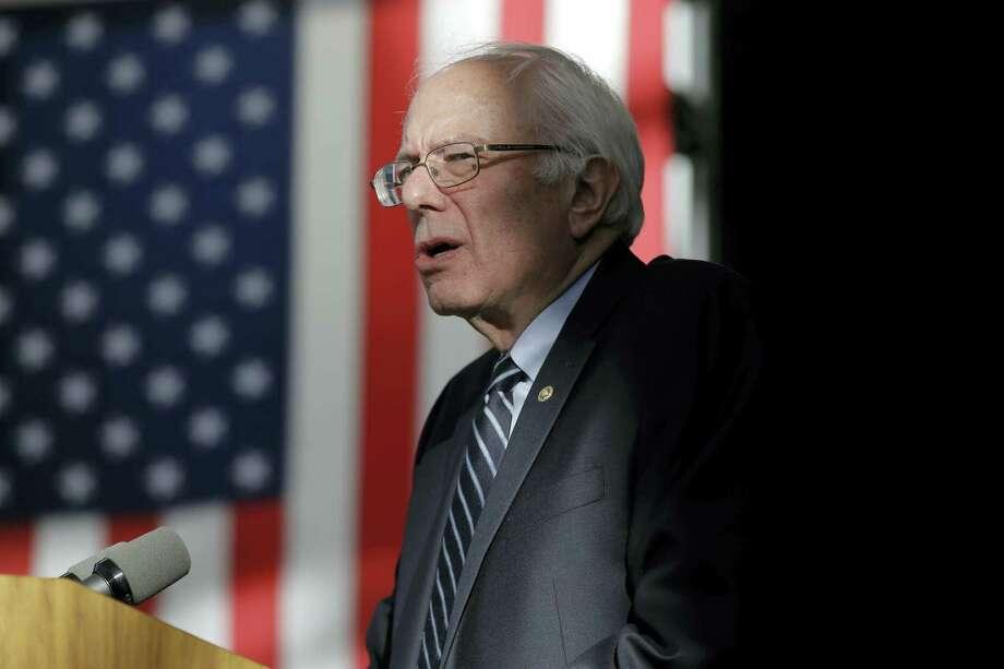ASSOCIATED PRESS  Democratic presidential candidate Sen. Bernie Sanders, I-Vermont, speaks at the Nevada Caucus Watch Party Saturday in Henderson, Nevada. Photo: AP / AP