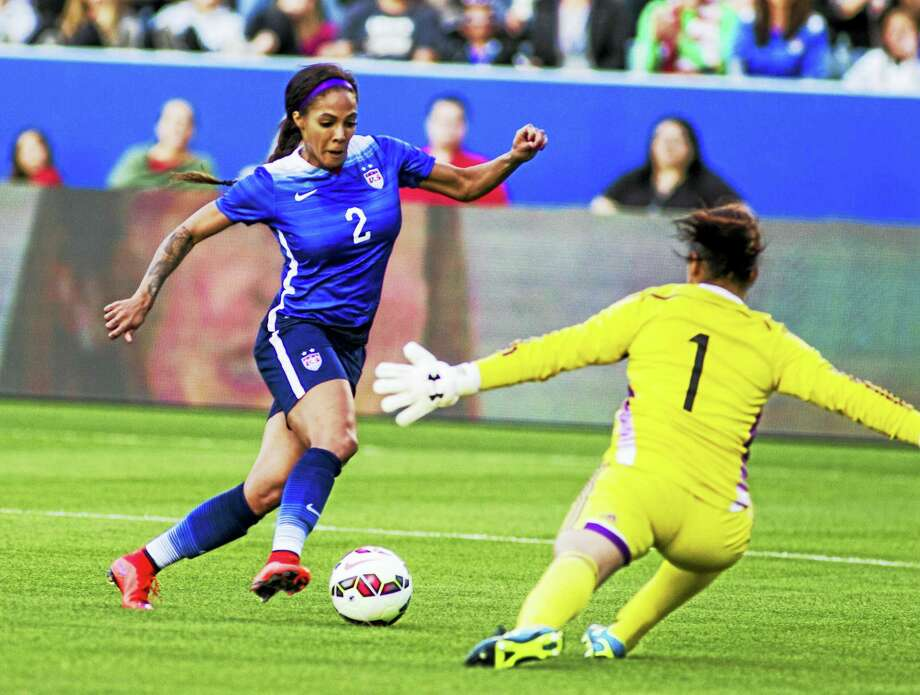 Sydney Leroux will not be available for the Rio Olympics this summer because she and her husband are expecting their first child. Photo: The Associated Press File Photo   / Copyright@Ringo Chiu. All Rights Reserved. www.photoformula.com