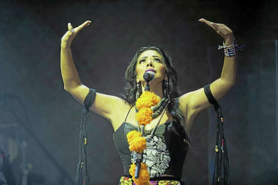 Chino Lemus photo  Lila Downs mixes musical styles in her high-energy performances. Photo: Journal Register Co. / CHINO LEMUS 2014