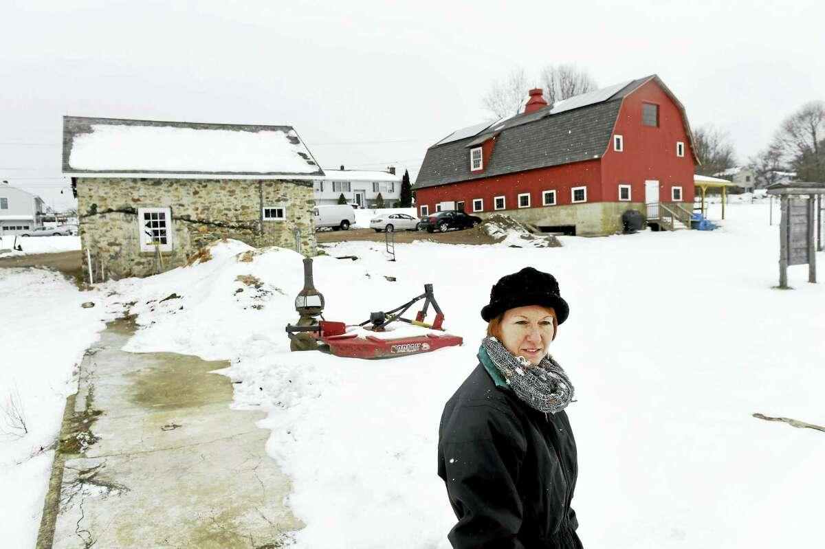 Caty Poole, executive director of the Massaro Community Farm in Woodbridge.