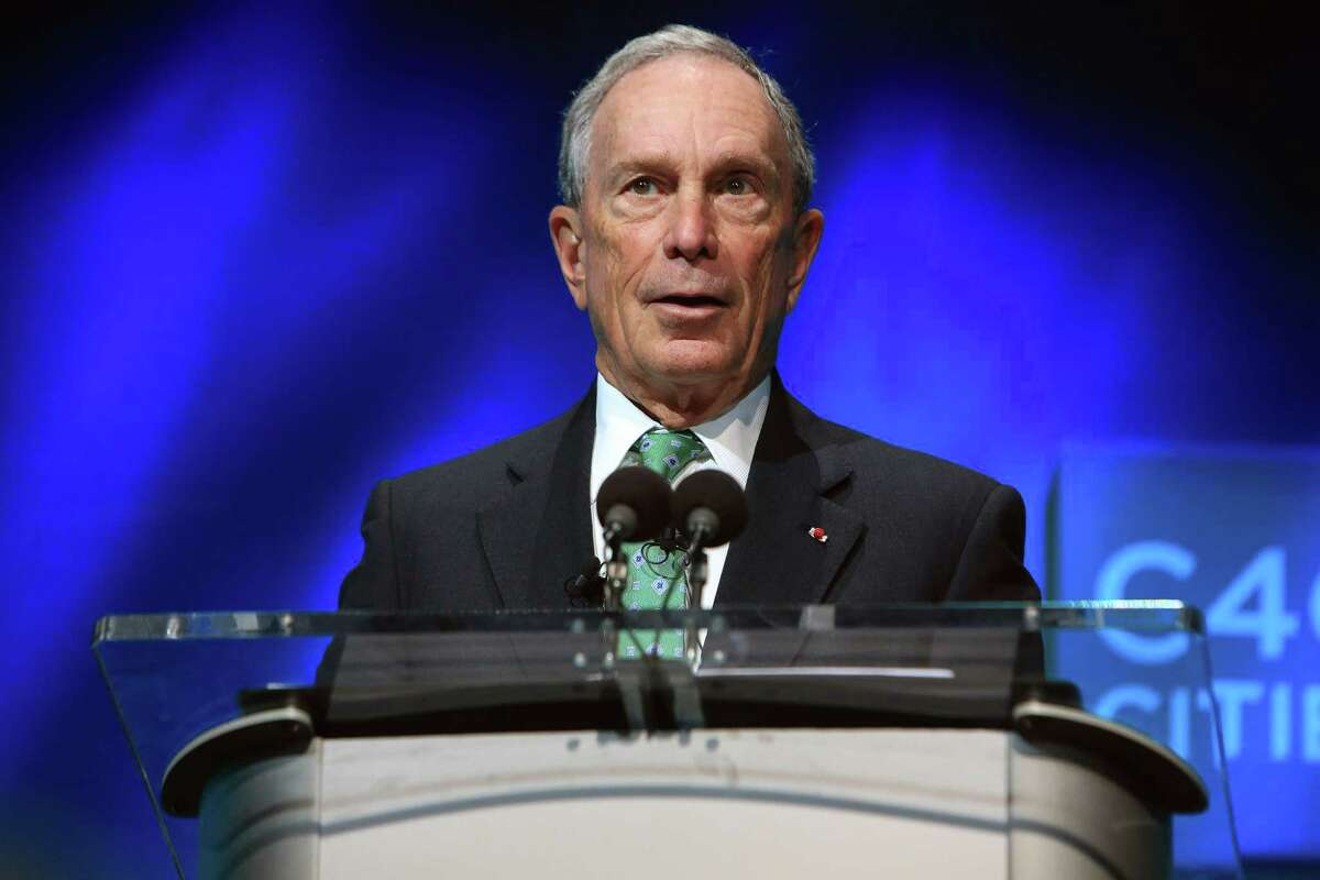 ASSOCIATED PRESS In this Dec. 3, 2015, file photo, former New York Mayor Michael Bloomberg speaks during the C40 cities awards ceremony, in Paris.