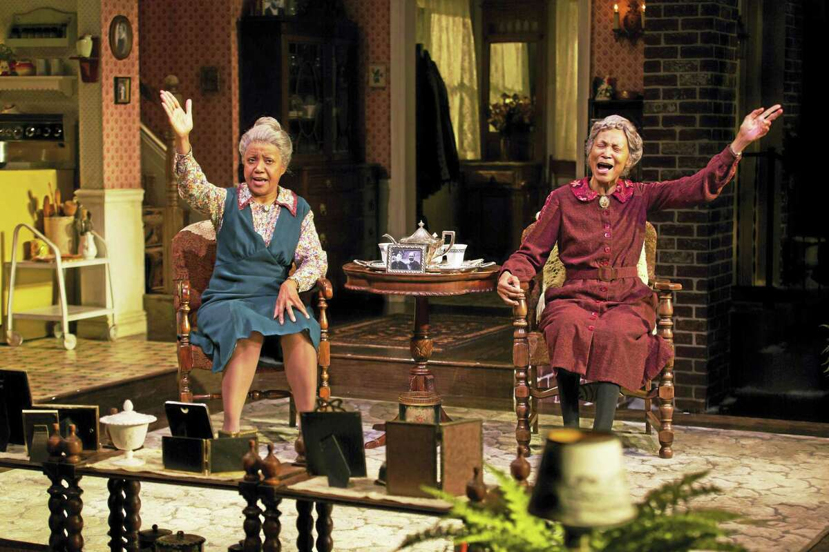 """Brenda Pressley, left, and Olivia Cole as the Delaney sisters in """"Having Our Say."""""""