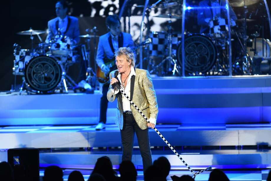Rod Stewart performs Saturday, July 22, 2017, at Saratoga Performing Arts Center in Saratoga Springs. Stewart played with special guest Cyndi Lauper. Stewart helped cover the costs for a trip a group of disabled children and their parents made, to protest proposed Medicare cuts. Photo: Trudi Shaffer Hargis