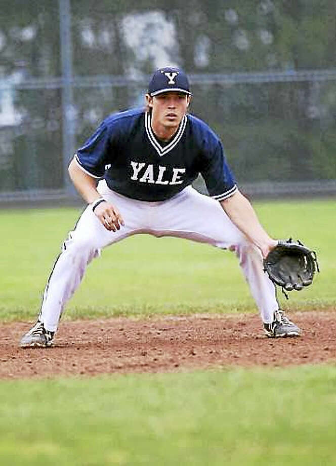 "Senior Tom O'Neill is the ""best defensive shortstop I've ever had,"" according to longtime Yale baseball coach John Stuper. Photo: Courtesy Of Yale Athletics"