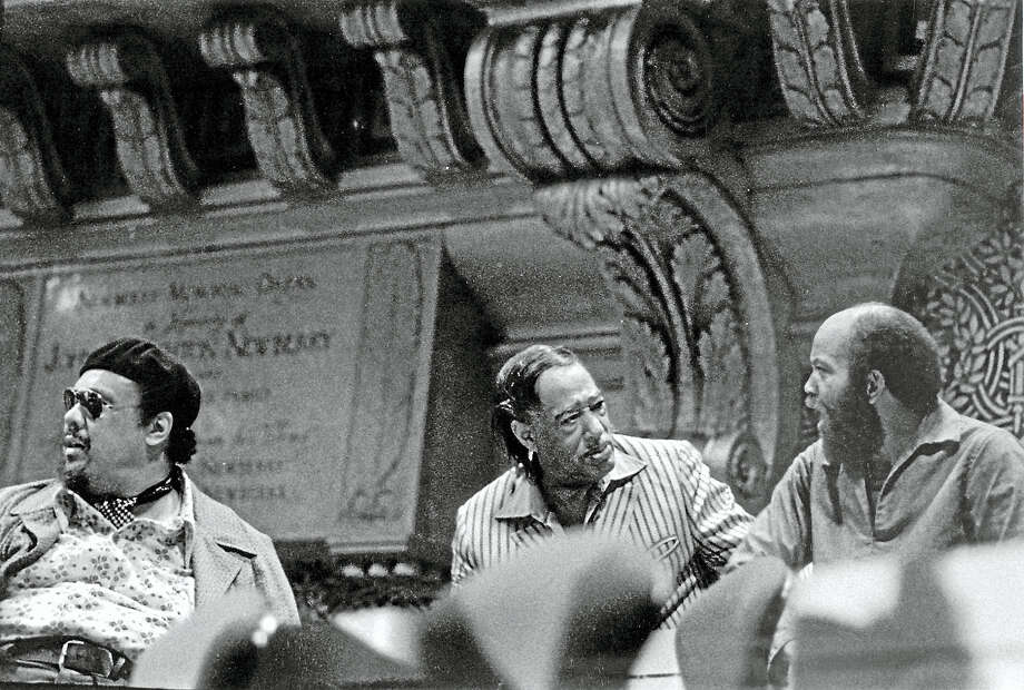 From left, Charles Mingus, Duke Ellington and Willie Ruff at Yale's Woolsey Hall in 1972. Photo: Contributed