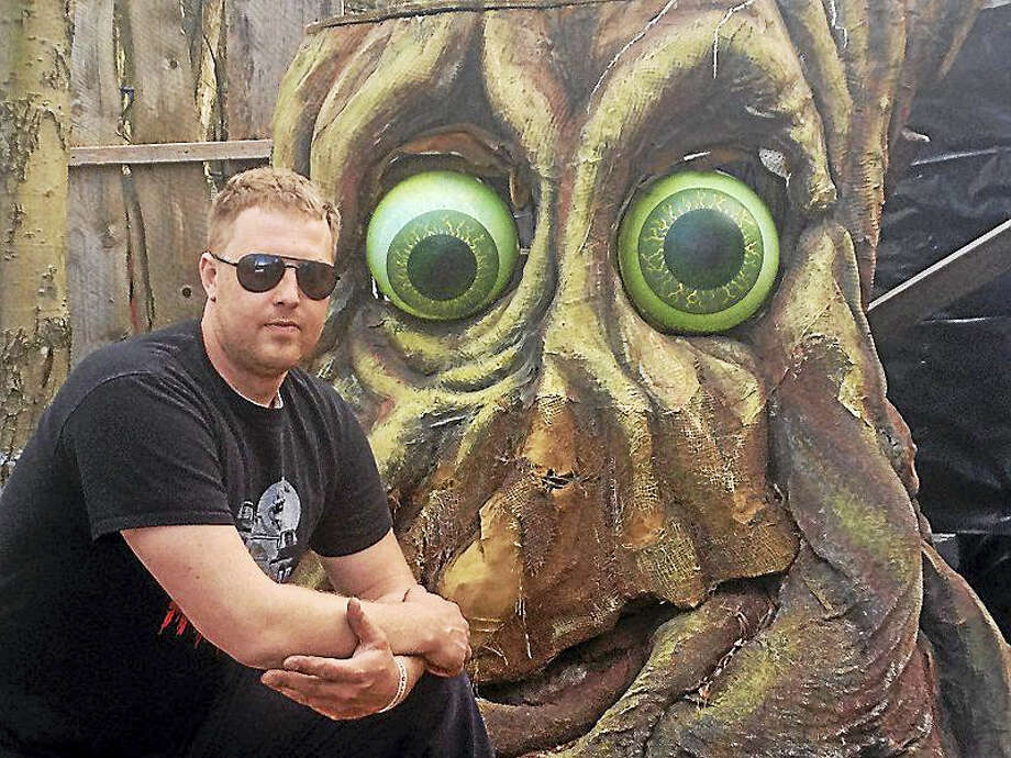 Eric Soltis and his friends are fighting to keep his Amity Road Horror attraction alive. Photo: Pam McLoughlin — New Haven Register