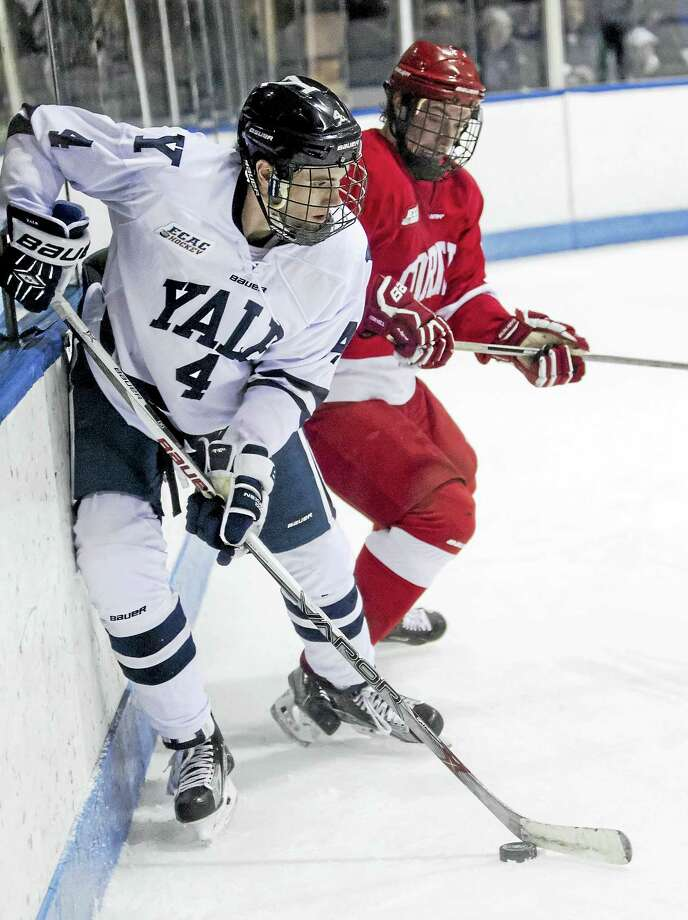 Yale senior defenseman Rob O'Gara will be back for the Bulldogs this weekend after serving a two-game suspension. Photo: Photo By Steve Musco   / Steve Musco