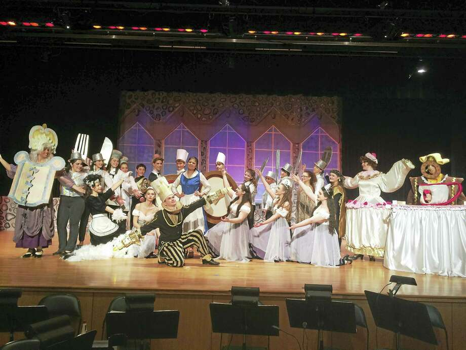 "The cast of ""Beauty and the Beast"" put on by the Notre Dame Drama Club. Photo: Contributed Photo"