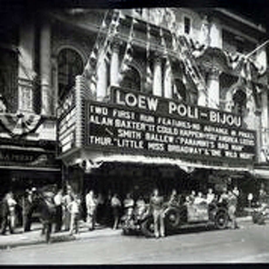 New Haven's Loew Poli-Bijou on Church Street in 1938. It no longer exists. Photo: Courtesy Of The New Haven Museum Photo Archives