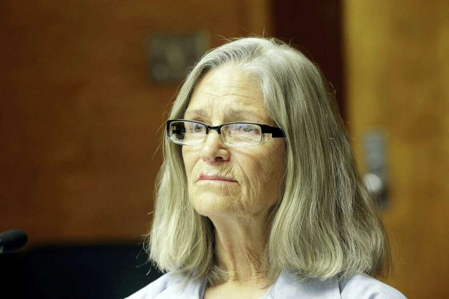 Former Charles Manson follower Leslie Van Houten is seen during a hearing before the California Board of Parole Hearings at the California Institution for Women in Chino, Calif., Thursday, April 14, 2016. The panel recommended parole for Van Houten more than four decades after she went to prison for the killings of a wealthy grocer and his wife. The decision will now undergo administrative review by the board. If upheld it goes to Gov. Jerry Brown, who has final say on whether the now-66-year-old Van Houten is released. Photo: AP Photo — Nick Ut / AP2016