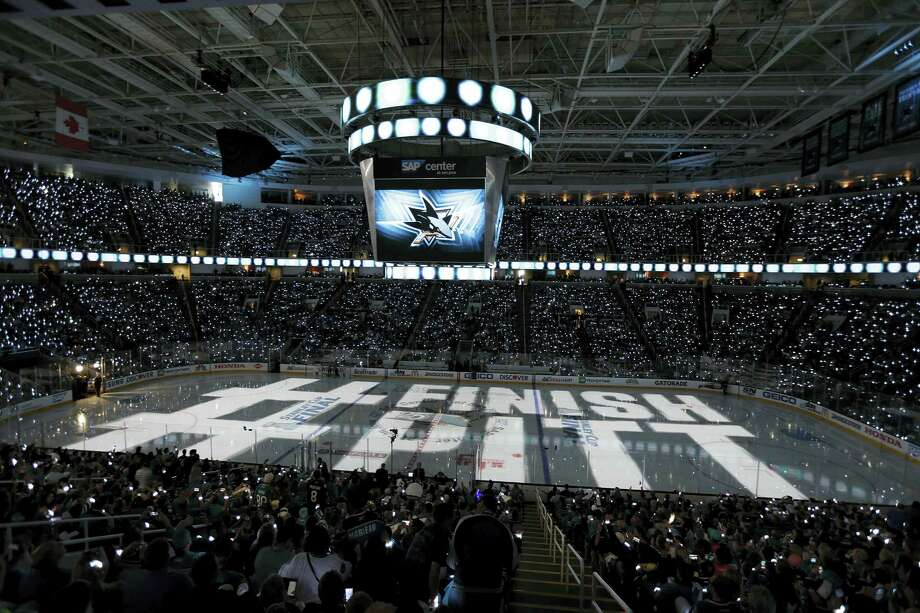 San Jose Sharks fans cheer at the SAP Center before the start of Game 4 of the Stanley Cup Finals on Monday. Photo: Eric Risberg — The Associated Press   / AP