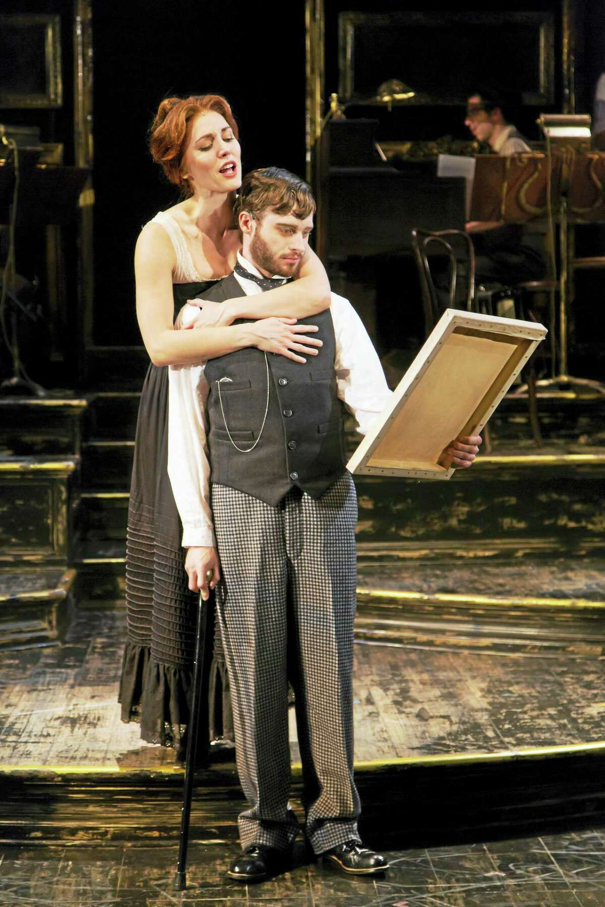 Bobby Steggert as Henri Toulouse-Lautrec and Mara Davi as Suzanne Valadon.