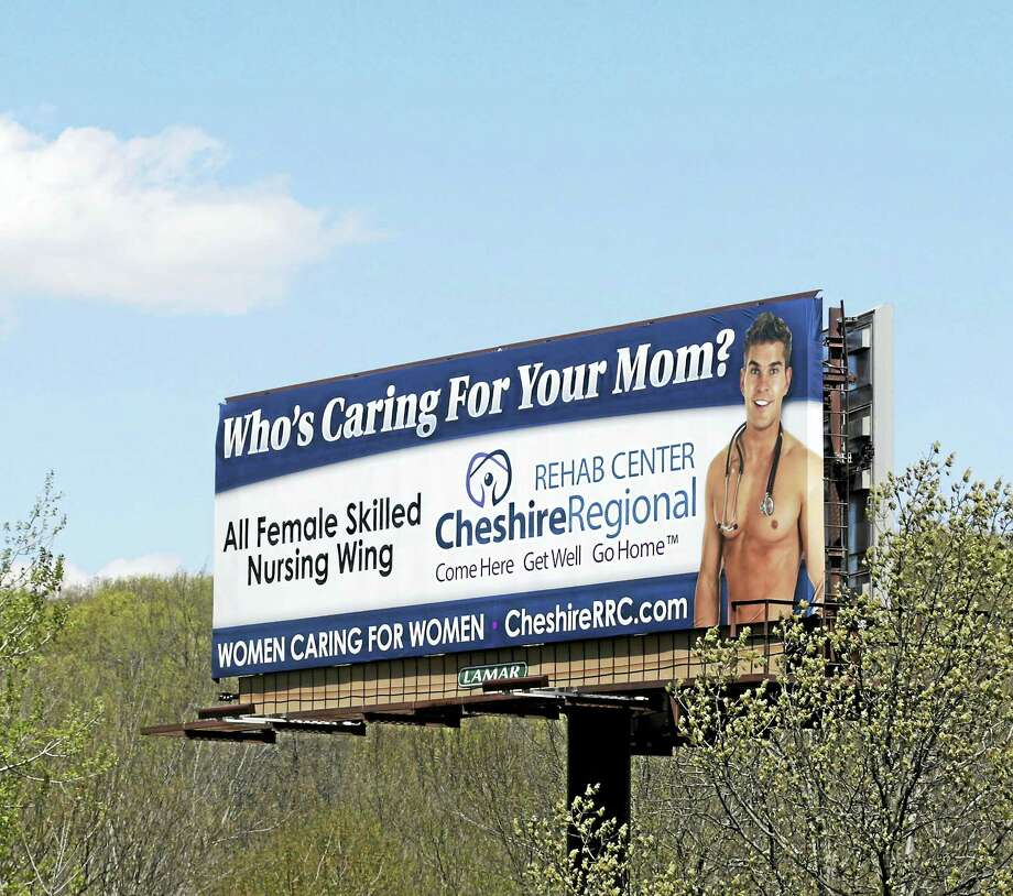 Cheshire Regional Rehab Center's billboard on Interstate 84 has been taken down and will be replaced after public outcry. Photo: Contributed Photo   / Republican-American