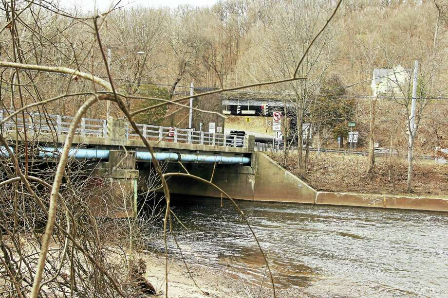 The Quinnipiac River is one of the three main rivers in Greater New Haven. Here, the river runs through Wallingford, where infrastructure and plants are on or close to the riverbanks. Photo: Journal Register Co.