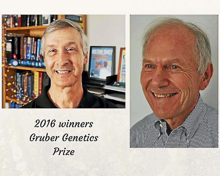 C. David Allis, PhD (at left) and Michael Grunstein Photo: Photo Courtesy Of Gruber Foundation