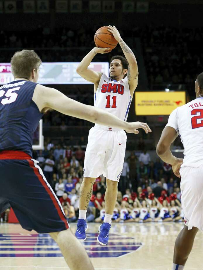 SMU guard Nic Moore is shooting at a 42 percent clip from beyond the arc this season. Photo: The Associated Press   / FR170531 AP