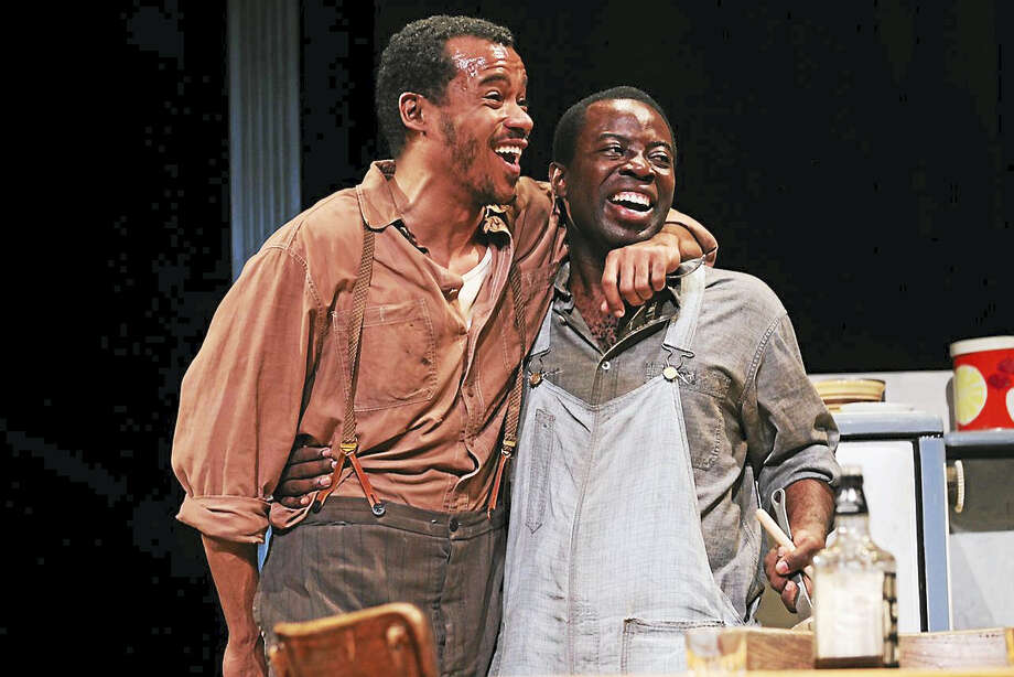 "LeRoy McClain and Charlie Hudson III in August Wilson's ""The Piano Lesson"" in 2011. Wilson's ""Seven Guitars"" is on Yale Repertory Theatre's fall schedule. Photo: Joan Marcus Photo/Yale Rep   / ©2011 Joan Marcus?"