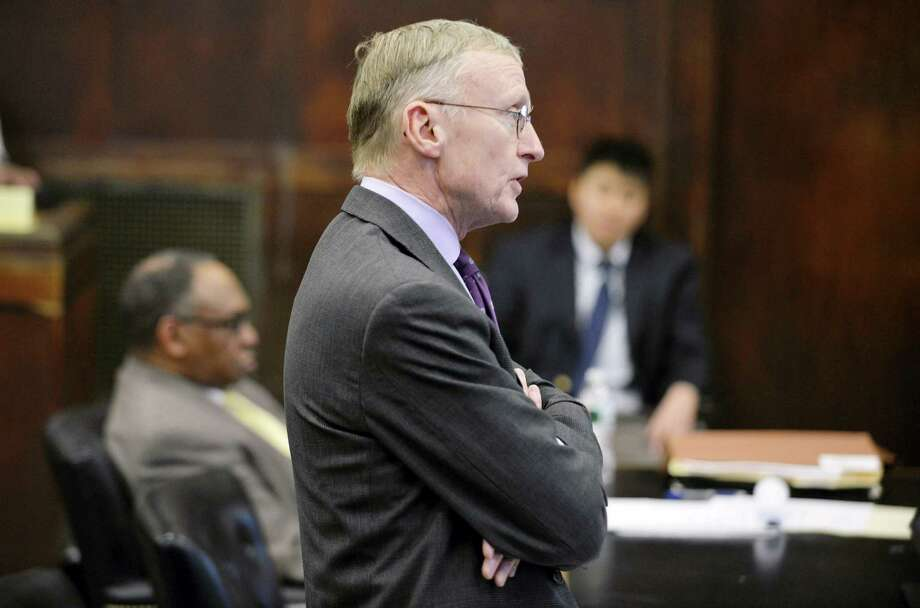 Charlie Rankin, attorney for Aaron Hernandez, speaks during a hearing in Suffolk Superior Court in Boston, Mass., Tuesday, Feb. 16, 2016. Lawyers for former New England Patriots player Hernandez have asked a judge to allow jurors at his upcoming trial to see a car prosecutors say Hernandez was in when he allegedly killed two men in 2012. Photo: Josh Reynolds/The Boston Globe Via AP / Josh Reynolds 2012