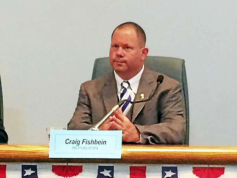 Wallingford Republican Town Councilman Craig Fishbein shown at a voter's forum last November. Photo: Luther Turmelle — New Haven Register
