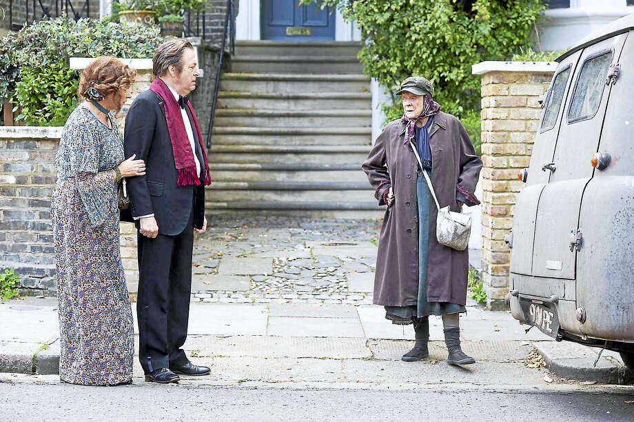 """The Lady in the Van"" cast includes Deborah Findlay as Pauline, left, Roger Allam as Rufus and Maggie Smith as Miss Shepherd. Photo: Nicola Dove - Sony Pictures Classics    / Sony Pictures Classics"