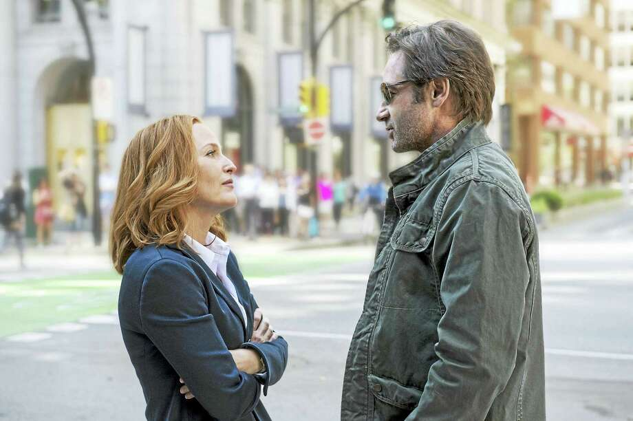 "Gillian Anderson and David Duchovny reprise their roles as Scully and Mulder in a rebooted ""The X-Files."" Photo: Ed Araquel - FOX   / Fox"